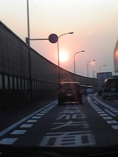 夕陽に向かって〜